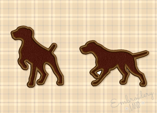 Hound Dogs Silhouette Designs Set AN045