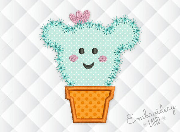 Cactus Applique Embroidery FL010
