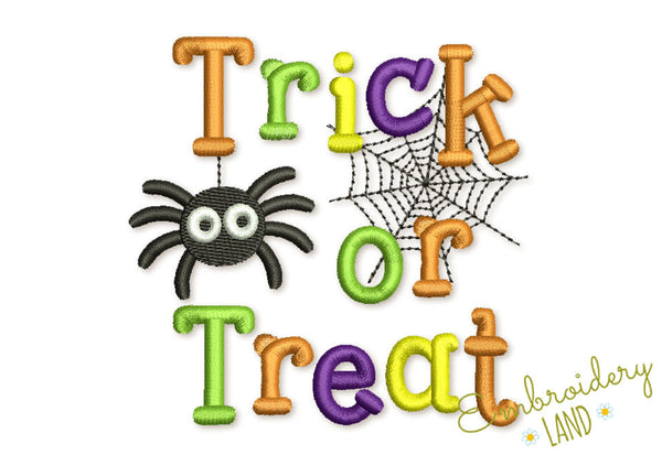Trick or Treat Embroidery Design HAL021