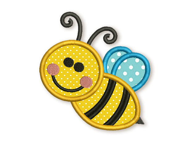 Bee Applique Embroidery Design AN027
