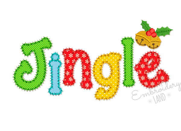Jingle Christmas Applique CHR073