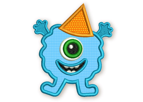 Birthday Monster Applique DE028