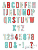 Narrow ZigZag Applique Alphabet #2 AL050