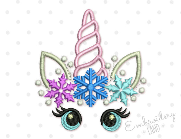Cute Snow Unicorn DE086