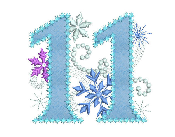 Ice Princess Number 11 Applique HB034