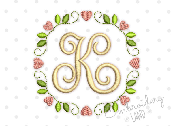 Hearts Elegant Font Frame in 5 sizes FF035