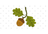 Acorn Mini Filled Embroidery DE060