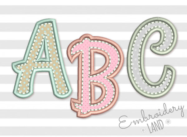 Applique Alphabet AL054