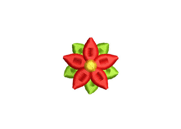 Poinsettia Mini Filled Christmas Design CHR041