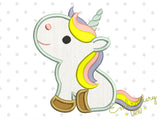 Cute Unicorn Applique BA040