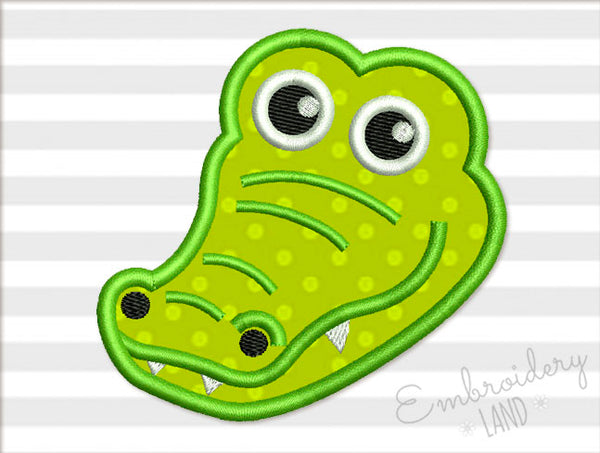 Alligator Head Applique AN039