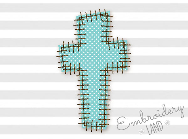 "Cross ""Patch"" Style Applique EA018"