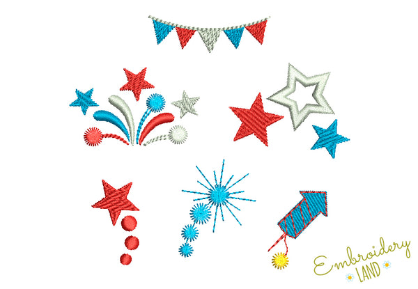4th July Mini Designs Set 7 pcs DE073