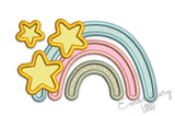 Stars Rainbow Applique DE095