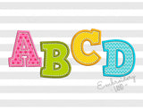 H-Stitch Applique Alphabet AL023