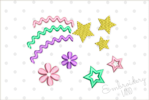 Magic Stars Unicorn Style Designs Set BA037