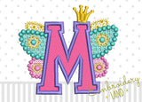 Fairy Letter M Applique DL128