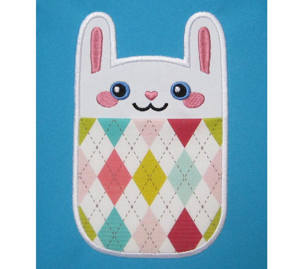 Cute Bunny Real Pocket In the Hoop ITH007