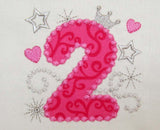 Bithday Number 2 Applique HB002