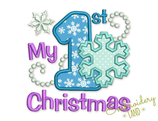 My first Christmas Applique CHR059