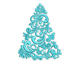 Christmas Tree Beautiful Elegant Design CHR067