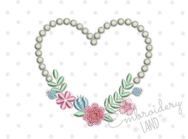 Floral Heart 4 sizes FF036