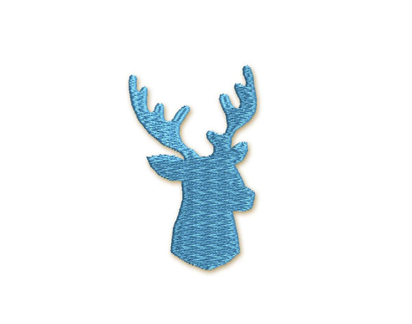 Christmas Deer MIni Filled Stitches Embroidery Design M24