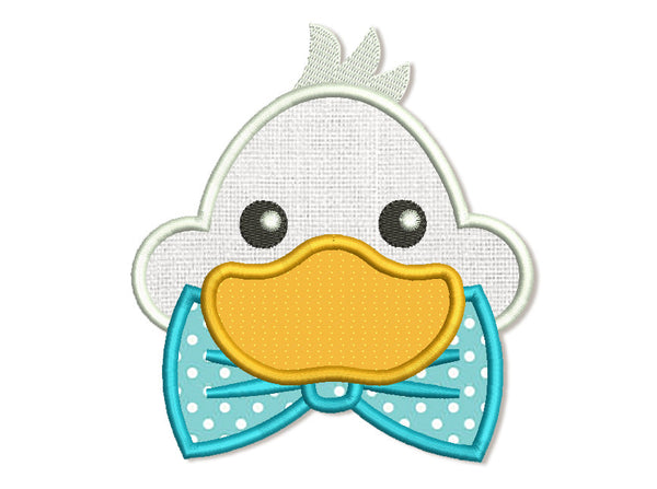 Duck with Bow Tie Applique AN035