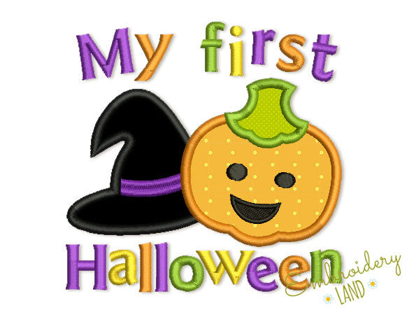 My First Halloween Applique HAL017