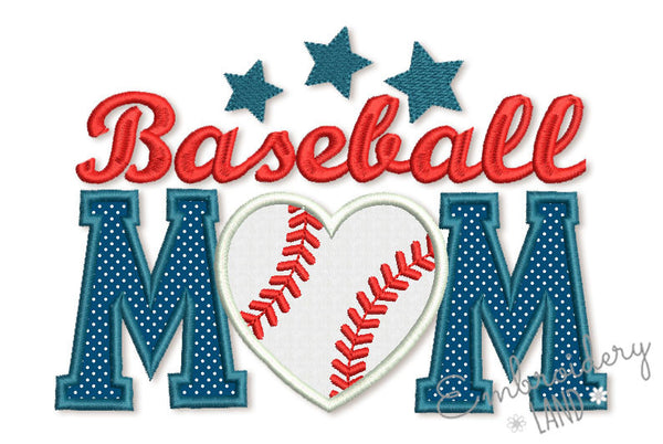 Baseball Mom Applique SP017