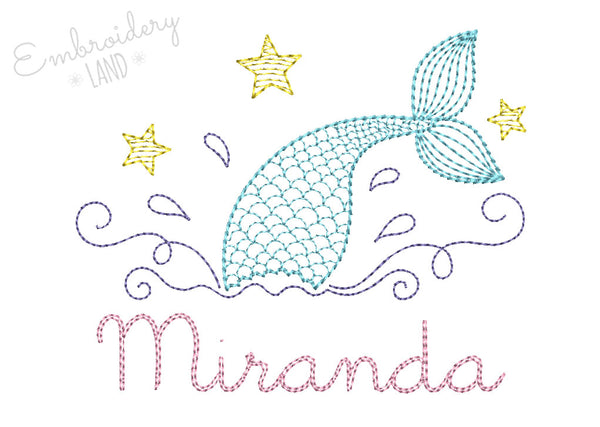Mermaid Name Frame FF028