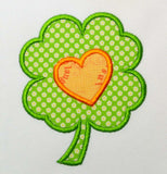 Heart Shamrock St. Patrick Applique SP003