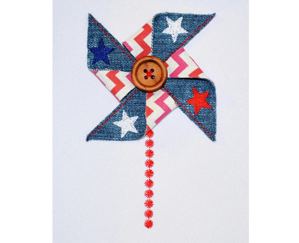 July 4th In-the-Hoop Pinwheel Project! ITH011