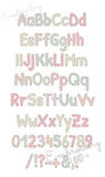 "BX font included! Free Edge ""Lora"" Raggy Applique Alphabet AL076"