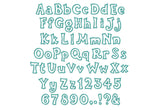 BX format included! Kiddy Applique Alphabet Font AL028