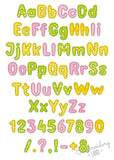 "BX font included! ""Plum"" Applique Alphabet AL070"
