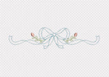 Vintage Look Ribbon Bow DE081