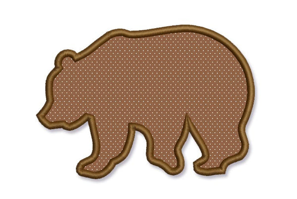Bear Forest Silhouette Applique Design AN020