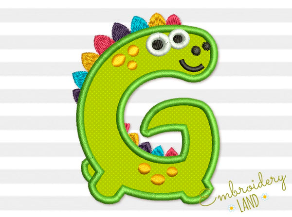 Dino Letter G Applique DL180