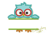 Back to School Owl Applique AN037
