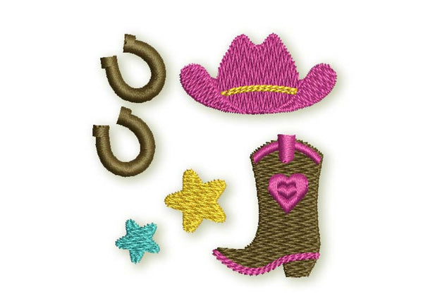 Cowgirl Mini Designs Set GRL011