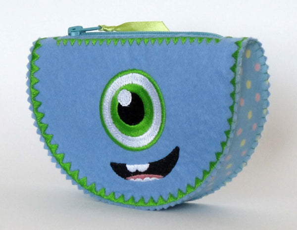Funny Monster Bag In The Hoop Project ITH003