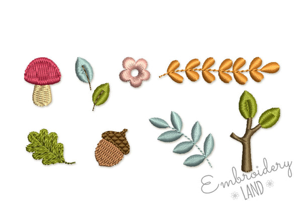 Woodland Mini Designs Set 8 pcs  DE084