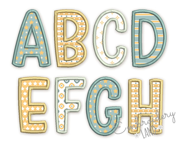 "Applique Alphabet Font ""Plio"" AL083"