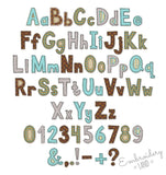 "6"", 7"", 8"", 9"" sizes Free Edge Raggy Applique Alphabet AL064"