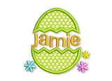 Easter Egg Font Frame Applique EA005