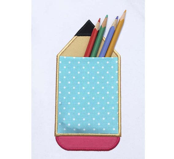 Pencil Real Pocket Applique ITH023