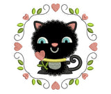Cute Kitty Kawaii Applique VA019