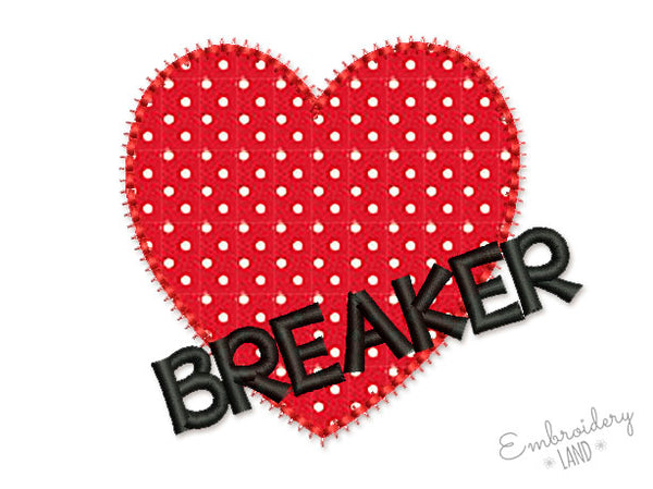Heart Breaker Applique VA048