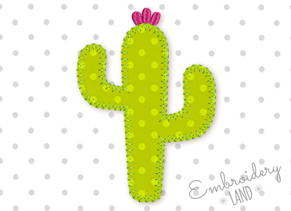 Cactus E-Stitch Applique FL008
